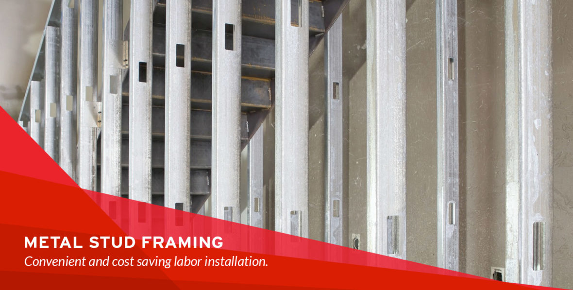 drywall repair specialists installs light gauge metal studs and connectors for load bearing mid rise construction systems and curtain wall systems - Metal Studs Framing